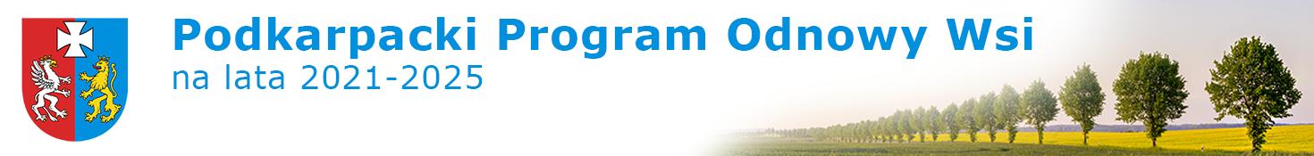 Podkarpacki Program Odnowy Wsi na lata 2021-2025 - strona główna